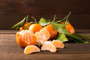 closeup of fresh clementines