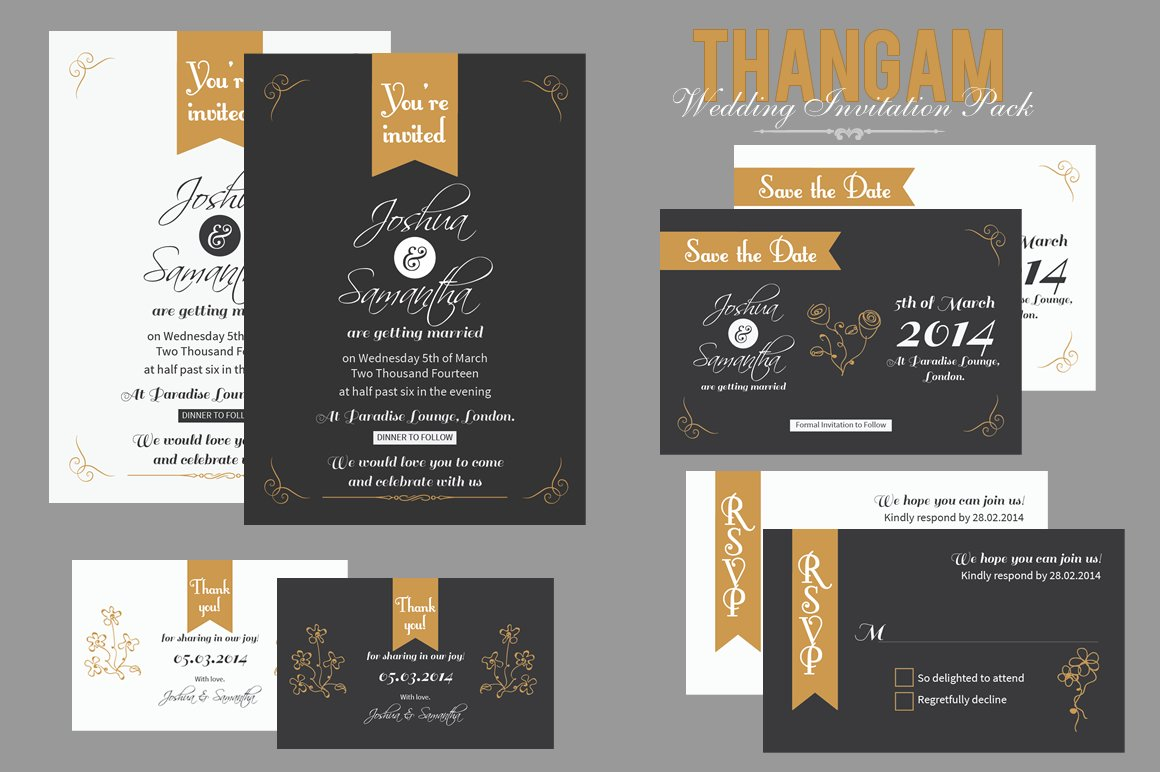 What To Include In A Wedding Invitation Pack: Thangam Wedding Invitation Pack