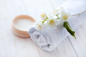 face cream with  jasmine blossom and