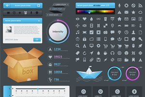 Elements of Infographics with button