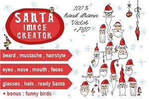 Santa Claus image creator set
