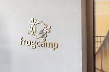 Frog Camp Logo Template