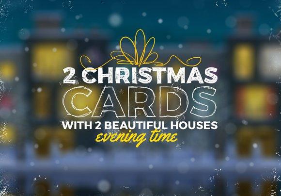 2 Christmas Cards - Graphics