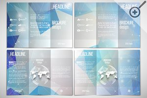 Set of  digital style brochures
