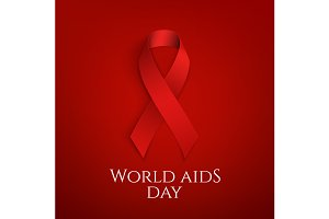 World AIDS day background.