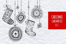 Christmas garland set vol.4