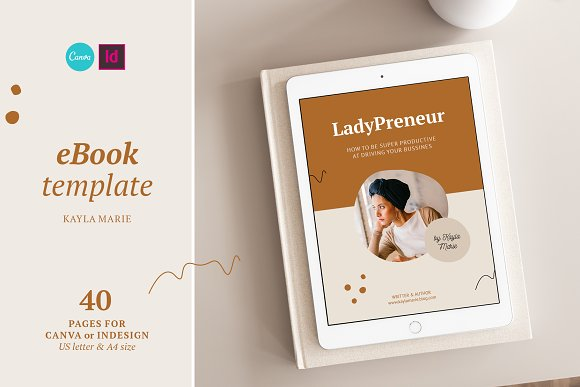 eBook / CANVA, INDD / Kayla in Magazine Templates - product preview 3