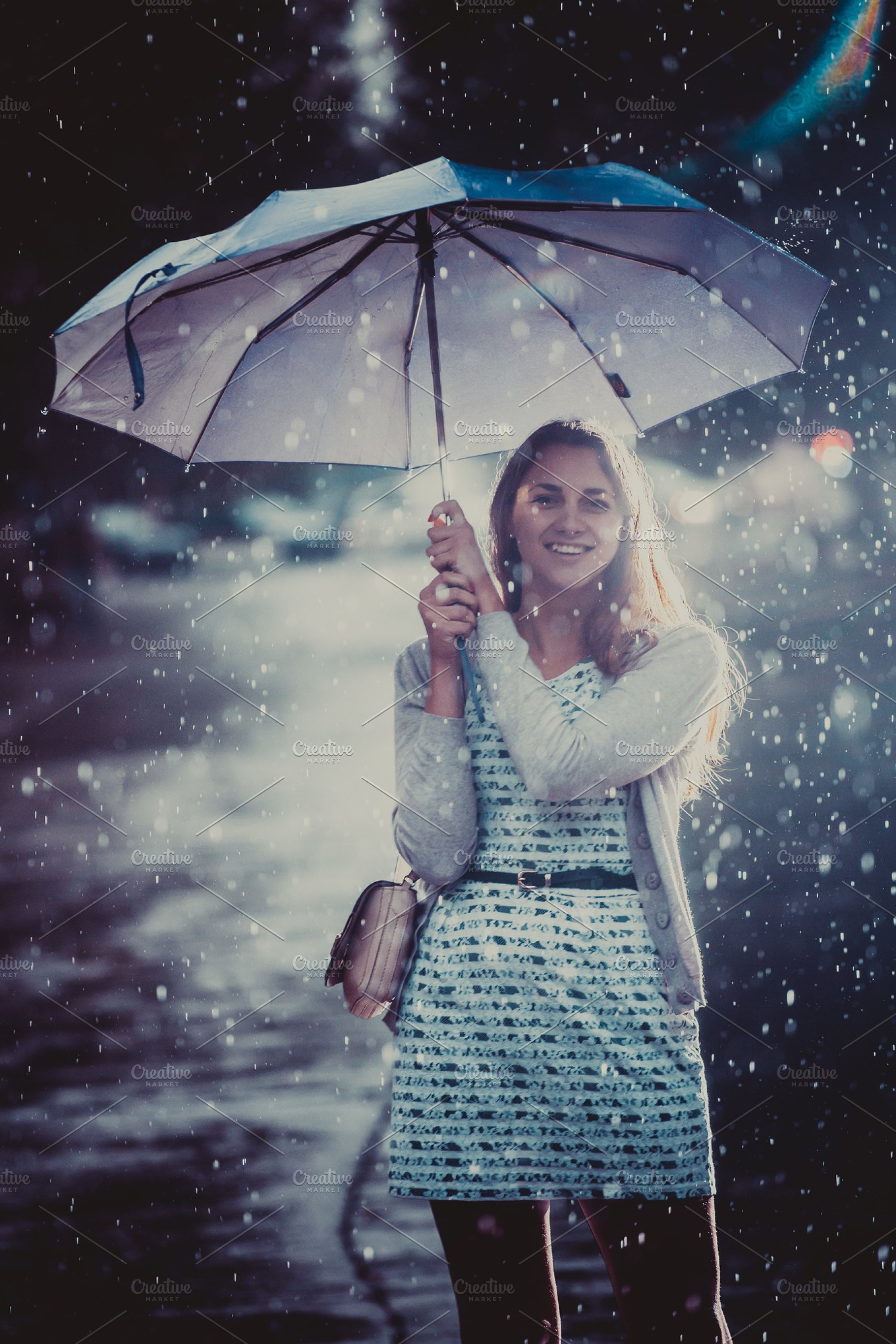 d94425f358edd Young fashion woman with umbrella. ~ People Photos ~ Creative Market