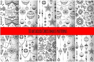 10 Christmas detailed patterns