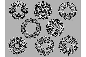 Circle vignette lace ornaments