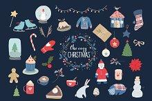 Cozy Christmas hand drawn graphics