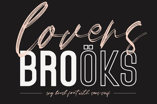 Lovers Brooks SVG Brush Font Sans