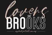 Lovers Brooks SVG Brush Font Sans