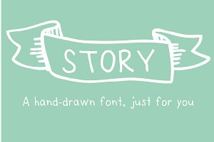 Story- a HandDrawn Font just for you