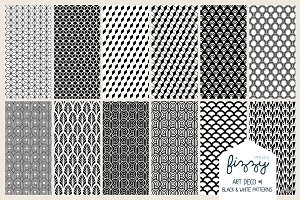 12 x EPS JPG Art Deco Black Patterns