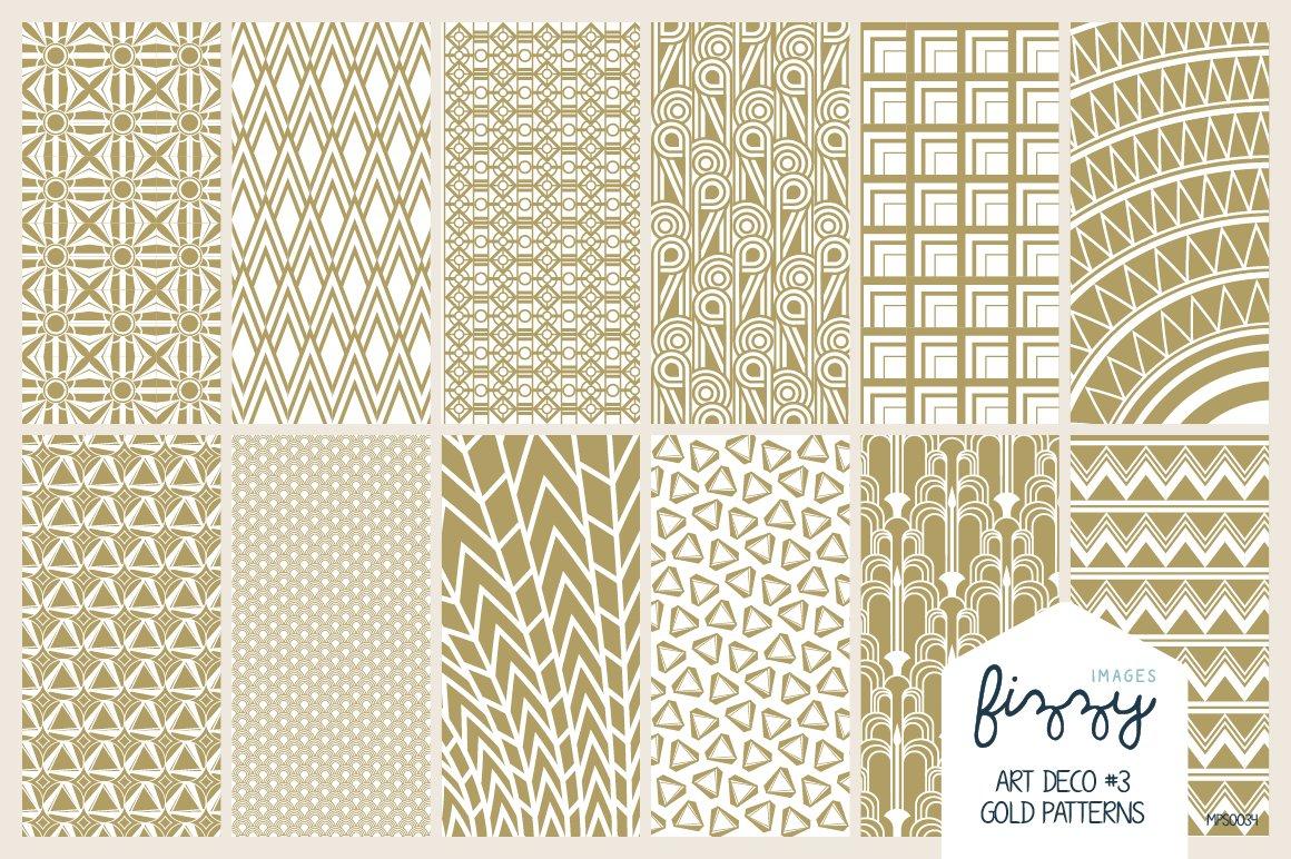 12 x eps jpg art deco gold patterns graphic patterns. Black Bedroom Furniture Sets. Home Design Ideas