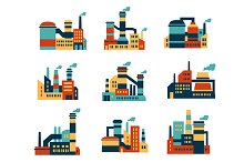 Flat industrial buildings and factor