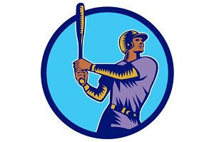 Baseball Batter Batting Bat Circle W