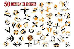 Abstract graphic design elements and