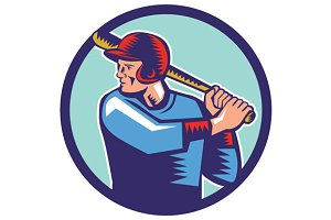 Baseball Player Batter Batting Circl