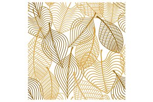 Seamless pattern of yellow and orang