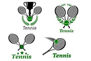 Tennis sport emblems