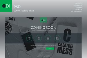ODI Coming soon psd template
