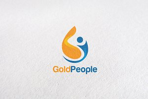 People, Water Drop Logo Templates