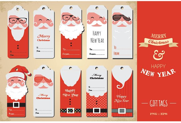 Christmas Tags: Graphics On Creative Market