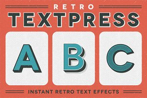 Retro Textpress – Illustrator Styles