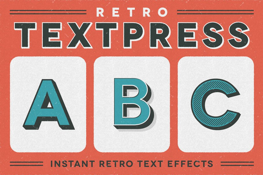Retro Textpress – Illustrator Styles ~ Illustrator Add-Ons