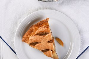 Apple Pie Slice High Angle
