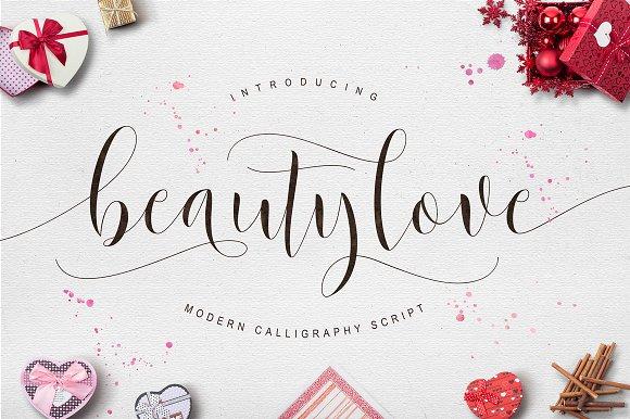 Beautylove script fonts on creative market