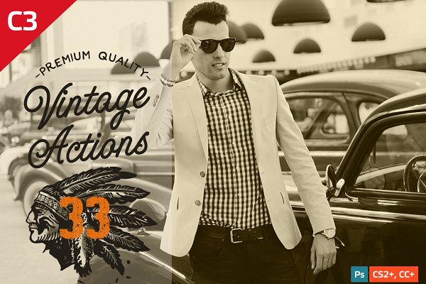 33 Photoshop Vintage Actions