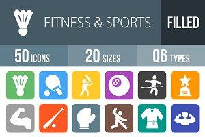 50 Fitness&Sports Flat Round Corner