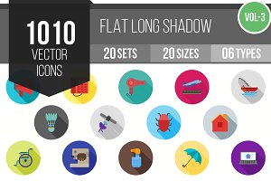 1010 Flat Shadowed Icons (V3)