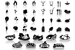 Set of 40 food&drink icons