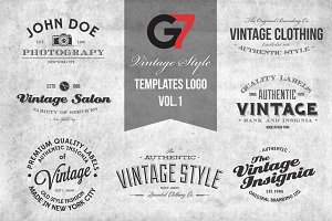 Vintage Style Templates Logo Vol. 1