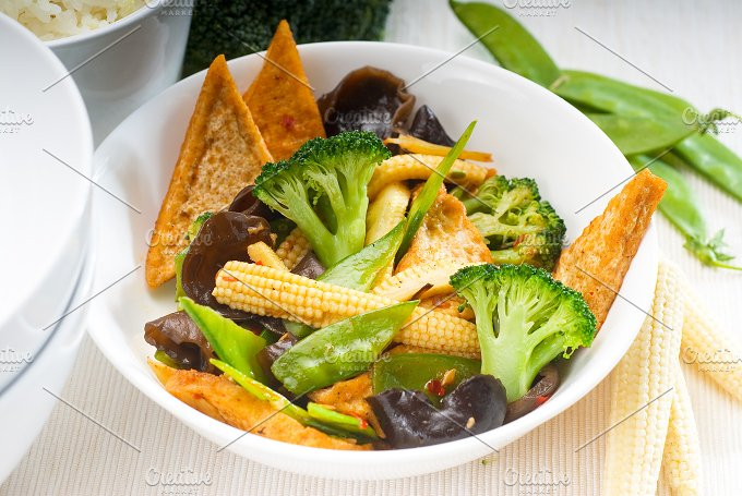 tofu or dou fu and vegetables 6.jpg - Food & Drink