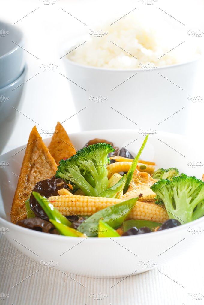 tofu or dou fu and vegetables 13.jpg - Food & Drink