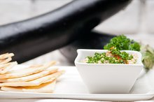 Baba Ghanoush eggplant dip and pita bread 10.jpg