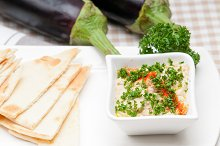 Baba Ghanoush eggplant dip and pita bread 11.jpg