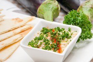Baba Ghanoush eggplant dip and pita bread 13.jpg