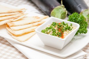 Baba Ghanoush eggplant dip and pita bread 14.jpg