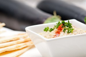 Baba Ghanoush eggplant dip and pita bread 18.jpg