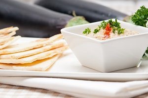 Baba Ghanoush eggplant dip and pita bread 19.jpg