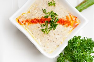 Baba Ghanoush eggplant dip and pita bread 21.jpg