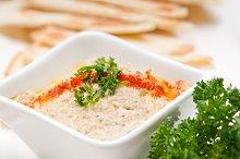 Baba Ghanoush eggplant dip and pita bread 26.jpg