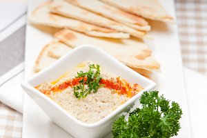 Baba Ghanoush eggplant dip and pita bread 27.jpg