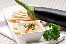 Baba Ghanoush eggplant dip and pita bread 30.jpg